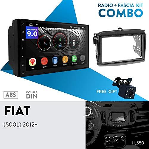UGAR EX9 7' Android 9.0 Car Stereo Radio Plus 11-550 Fascia Kit for FIAT (500L) 2012+