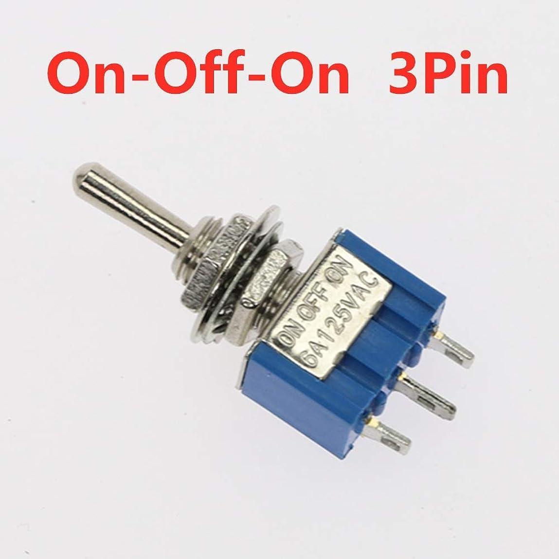 要求リットル幅5pcsのトグルスイッチON-OFF/ON-OFF-ON 3/6ピン2/3位置ラッチングMTS-102 103 202 AC 125V / 250V 6A / 3A電源ボタンスイッチカー (Color : 103, Voltage : 5Pcs)