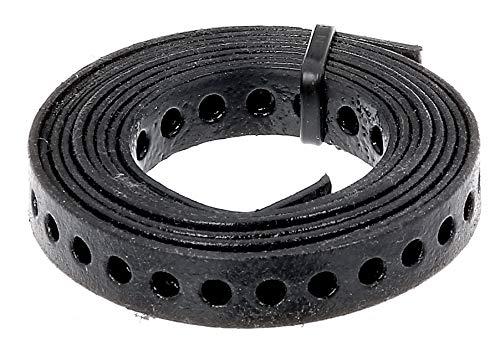 GAH-Alberts 334123 Lochband | mit oder ohne Abrollkasette | schwarz kunststoffbeschichtet | Breite 12 mm | Länge 1,5 m