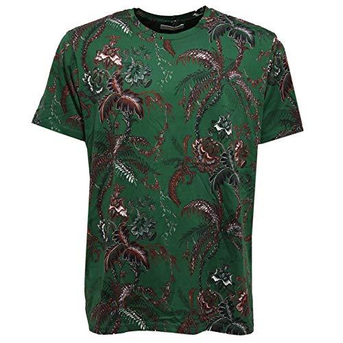 Etro 5654AA Maglia Uomo Cotton Green Multicolor t-Shirt Man [S]