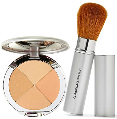 Christina Cosmetics Perfect Pigment 2 Compact and Retractable Brush Duo