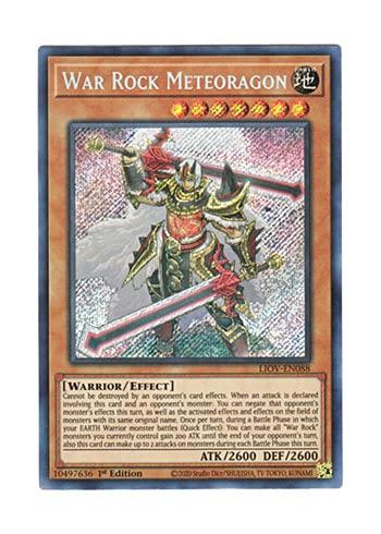 遊戯王 英語版 LIOV-EN088 War Rock Meteoragon (シークレットレア) 1st Edition