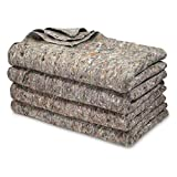 U.S. Military Surplus 4 Pack Wool Blankets, Survival Gear for Disasters & Emergencies, Perfect for Homeless Shelters, Outdoor Camping, Made in USA