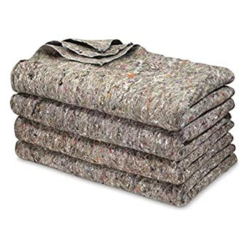 U.S Military Surplus 4 Pack Wool Blankets Survival Gear for Disasters & Emergencies Perfect for Homeless Shelters Outdoor Camping Made in USA