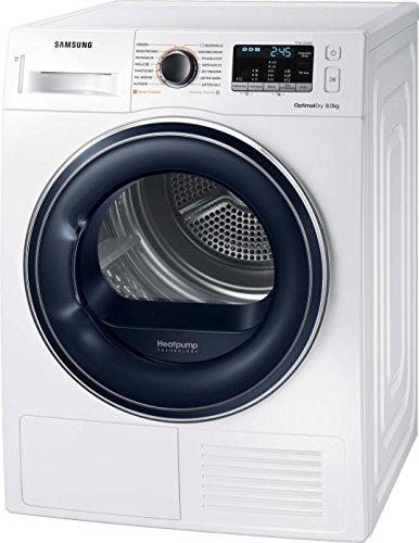Samsung DV5000 DV81M50103W/EG Wärmepumpentrockner/A++/OptimalDry - Sensorgesteuertes Trocknen/Kondenswasserstandsanzeige - SchnellCheck/Komfort 2-in-1-Filter - 4