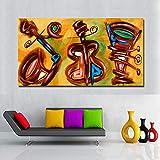 SQSHBBCArte decoración del hogar Accesorios Guitarra música Decorativa impresión Pintura Pared Arte Cuadros para Sala de Estar 70x130 cm sin Marco