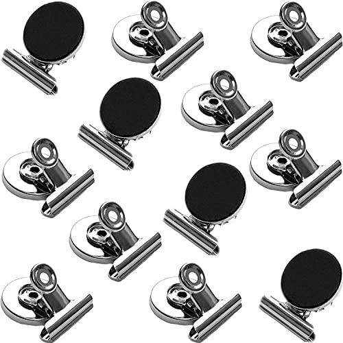 Papercode Magnete für Magnettafel, Kühlschrank, Whiteboard – 12 starke Mini-Magnete: Schule, Haushalt, Büro – aus Edelstahl – Inkl. Notizblock