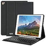 AMZCASE Tastatur Hülle 10.2 für (9/8/7 Generation-2021/2020/2019)-iPad Air 3, Hülle für iPad Pro 10.5 2017 mit Abnehmbarer drahtloser Bluetooth-Tastatur-Hülle mit Stifthalter (schwarz)