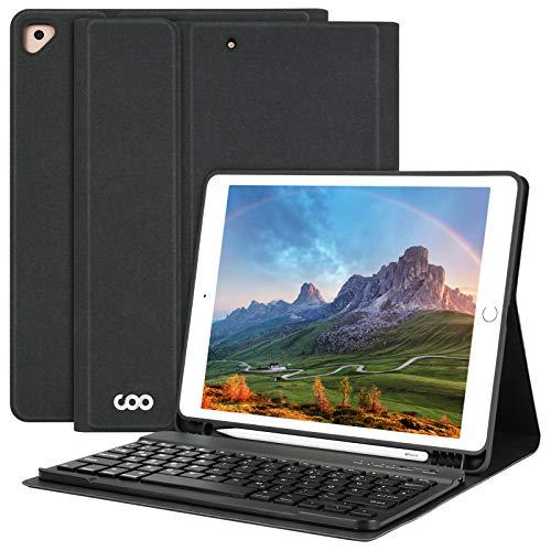 iPad Keyboard Case 10.2 for iPad 8th Generation 2020 -iPad 7th Generation 2019-iPad Air 3 Case for iPad Pro 10.5 2017 with Detachable Wireless Bluetooth Keyboard Case with Pen Holder (Black)