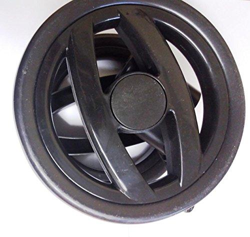 Double roue avant Peg Perego Pliko P3 Compact et Pliko Switch - Modèles à partir de 2011 - Noire