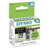 DYMO LW Small Multi-Purpose Labels, 13 mm x 25 mm, Roll of 1000 Easy-Peel Labels, Self-Adhesive, for LabelWriter Label Makers, Authentic