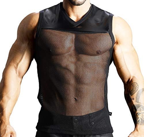 Andrew Christian Herren T-Shirt Football Sleeveless Tee 2735, schwarz M