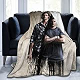 Supernatural Jensen Ackles Blanket Ultra Soft Comfort Fashion for Couch Sofa Bed Adults All Season Autumn 50'X40' Inch