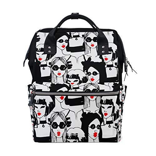 Cool Girl Sac à dos à langer pour maman Grand sac à dos unisexe Sac à langer Sac à dos de voyage Sac à dos d'école Sac pour ordinateur portable