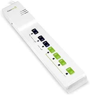TrickleStar Advanced 7 Outlet Energy Saving PowerStrip and Surge Protector, 2160 Joules, 4 Foot Cord