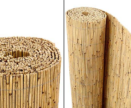 bambus-discount.com Schilfrohrmatten Premium Beach, 140 hoch x 600cm breit - Sichtschutz Matten Windschutzmatten …