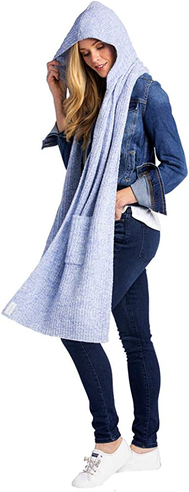 Softies Weekly update Women's Attention brand Marshmallow Hooded Cardigan with Ultra-Sof Scarf