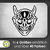 Teufel Maske Wandtattoo in 6 Größen - Wandaufkleber Wall Sticker
