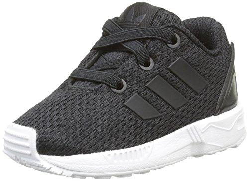 adidas Unisex Kinder ZX Flux Sneaker, Black/Core Black/Footwear White, 19 EU
