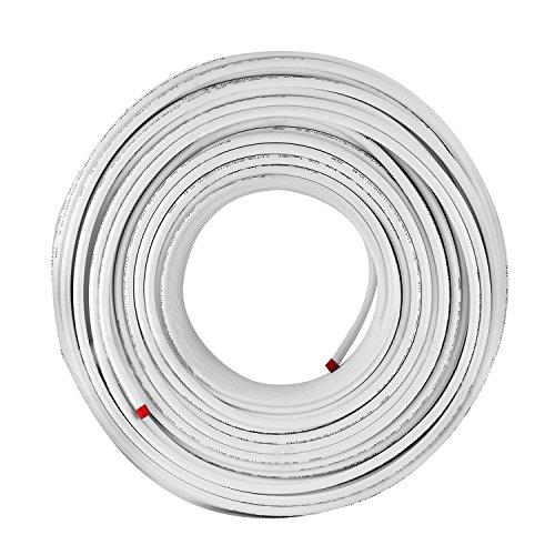 Tecmaqui 300M PEX AL PEX Tubo de Aluminio y de Plástico para Calefacción de Suelos Radiantes 16X2MM Tubería de Oxígeno-calefacción Tubería para Agua de Energía Solar (300m)