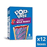 Pop-Tarts, Breakfast Toaster Pastries, Frosted Wild Berry, Proudly Baked in the USA, 96 count (Pack of 12, 13.5 oz Boxes)