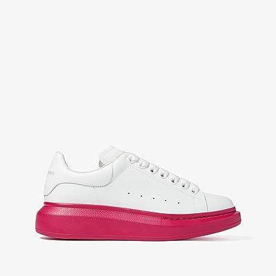 Alexander McQueen Oversized Sneaker (White/Cocktail Pink) Women