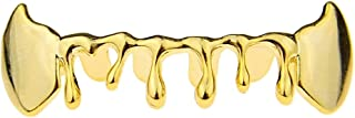 14k Gold Plated Fang Drip Grillz Bottom Teeth Fangs Hip Hop Vampire Dripping Pre-Made Grills