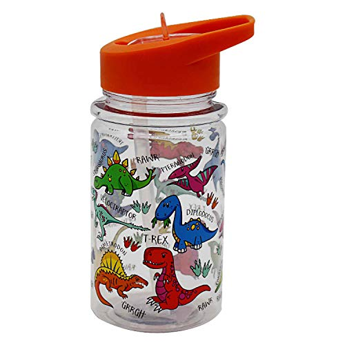Lesser & Pavey Little Stars Dinosaur Drinking Bottle, Multicolour, Height 17cm