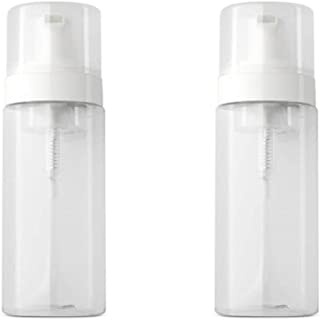 100ML/3.3 Oz Clear Plastic Soap Dispenser Pump Bottles with White Plastic Tops 2 Pack for Soap,Shampoo Empty Travel (Soap ...