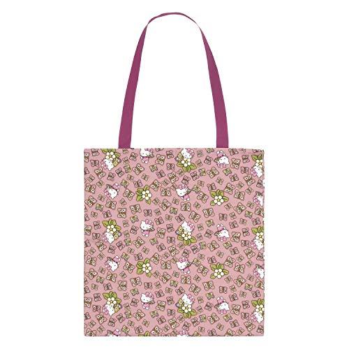 THUN ® - Shopper Hello Kitty 100% Cotone - 34x37 cm