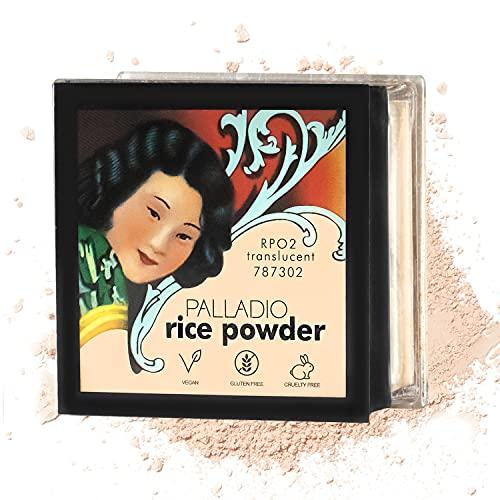 Palladio Rice Powder, Translucent, Loose Setting Powder, Absorbs Oil,...
