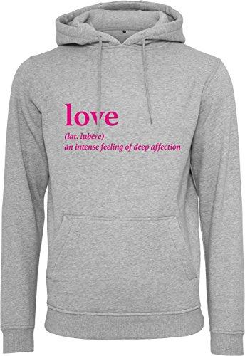 Mister Tee Damen Love Definition Hoodie Kapuzenpullover, Heather Grey, S