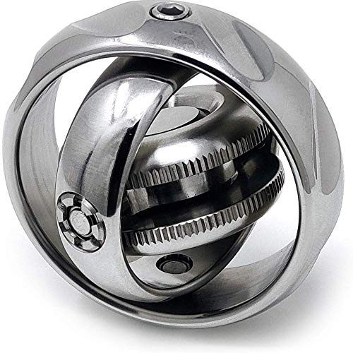 HBBOOI Fuerza Dedo mecánico de la Mano Spinner EDC Acero Inoxidable Spinner Matar el Tiempo aliviar la ansiedad aliviar el estrés Juguetes for Adultos y Niños Decoración de Regalos