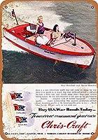 ブリキ看板ビンテージクラシックアメリカ飾り1945クリスクラフトRunaboutsコレクティブルウォールアート