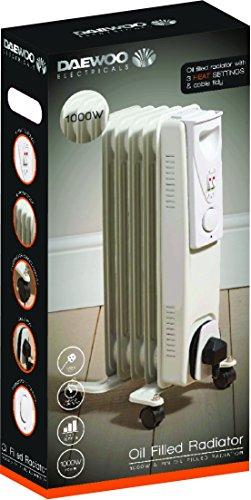 Daewoo Oil Filled Radiator, 1000 Watt