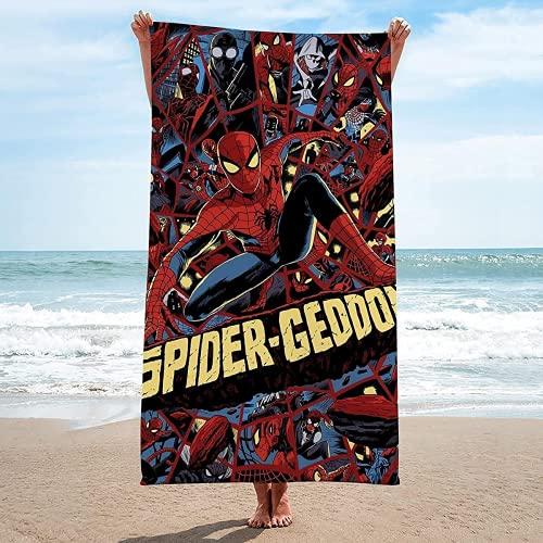 KMYYZYQ Toalla de playa de Spiderman, superabsorbente, impresión 3D, suave, para camping, 1,75 x 150 cm
