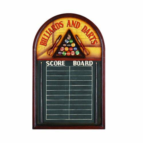 RAM Gameroom Products Pub Sign with Scoreboard, Billiards and Darts - Score Board