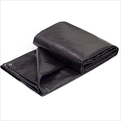 XJLG-Bache Tissu imperméable Bache Lourde Noire, RV ou Couverture de Piscine Tente de Camping en Plein air