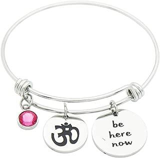 Eilygen Yoga Jewelry Stainless Steel Yoga Expandable Bangle Bracelet Yoga Gift Gift for Yogi
