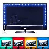 LE Tira LED USB 1m 30 * 5050 SMD RGB Retroiluminación Multicolor, con Controlador, Modos de luz, Decoración del hogar, Ordenador, Muebles