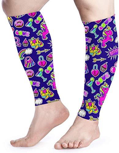 hdyefe Comic Fashion Pattern Unisex Calf Compression Sleeve - Beinkompressionssocken für Laufen, Schienbeinschonung, Wadenschmerzlinderung, Bein