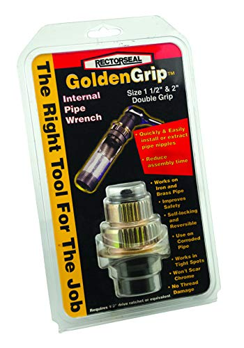 Rectorseal 97253 Double 1.5-Inch/2-Inch Goldengrip Internal Pipe Wrench