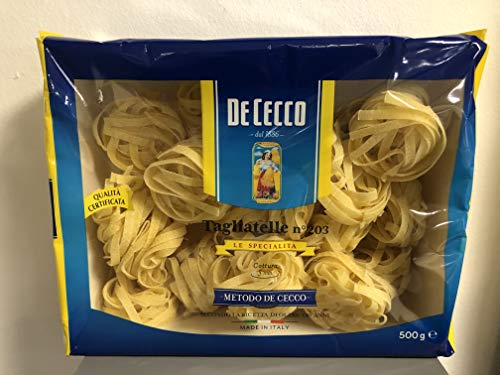 Testpaket Pasta De Cecco Italienisch Tagliatelle-Fettuccine-Pappardelle Nudeln 9 x 500g