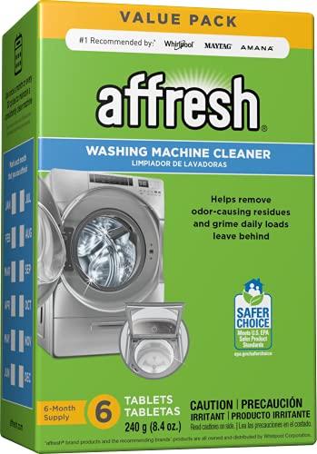 Affresh Waschmaschinenreiniger, reinigt Frontlader- und Toplader-Unterlegscheiben, inkl. HE, 6 Tabletten