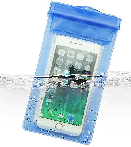 Dolder Vecro Wasserchite Handyhülle Tasche für iPhone 8/7/6s/6/SE/5/5S, huawei P10/P10lite/P9 und andere 4.3~5.1 zoll Smartphone wie Samsung Galaxy S7/S6/S5/S4/S3/Mini, HTC One M7/M8/M9/Mini,Desire, LG Nexus 5, Sony Xperia XA/Xpirea X/Xperia X Performance/Z5 Compact/Z3 Compact , Google Nexus 4/5, Blackberry Passport, Nokia Lumia 1020/930/630, Motorola Moto E/MOTO G/MOTO X usw. in Blau.