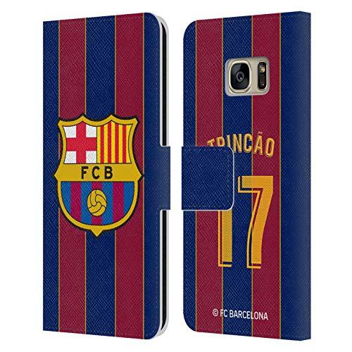 Head Case Designs Licenciado Oficialmente FC Barcelona Trincão 2020/21 Players Home Kit Group 2 Carcasa de Cuero Tipo Libro Compatible con Samsung Galaxy S7