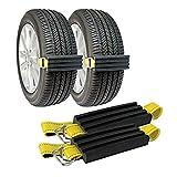 Fácil de instalar Nieve antideslizante de neumáticos, bloques de barro y arena dispositivo neumático de tracción, por carros, SUVs y los coches y SUV pequeño, fácil de instalar o Set