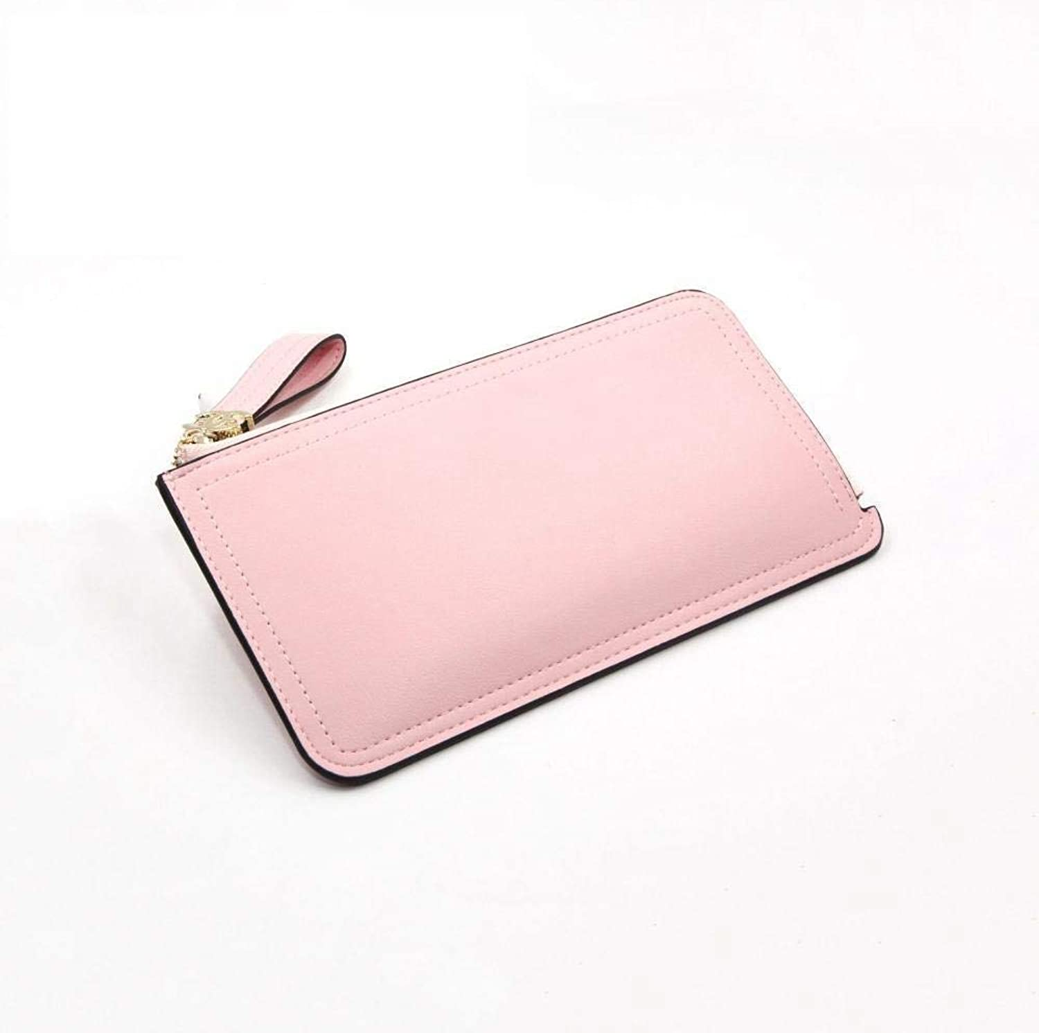 Girls Purse Women's Wallet,Lady's Large Wallet Zipper Big Capacity Wallet PU Leather (color   A)