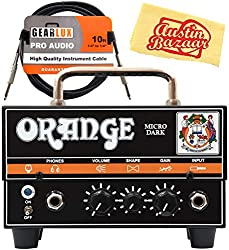 top rated Orange MD20 Micro Dark 20 Watt Mini Guitar Head Amp, Instrument Cable and … 2021