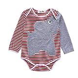 Julhold - Chándal para bebé recién Nacido, diseño de Elefante, a Rayas, de...